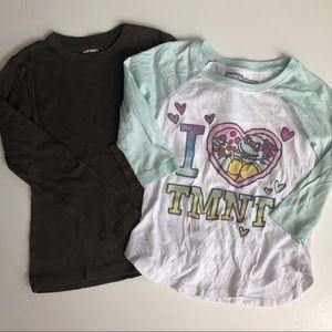 Other - Girls Ninja turtles tee shirt bundle